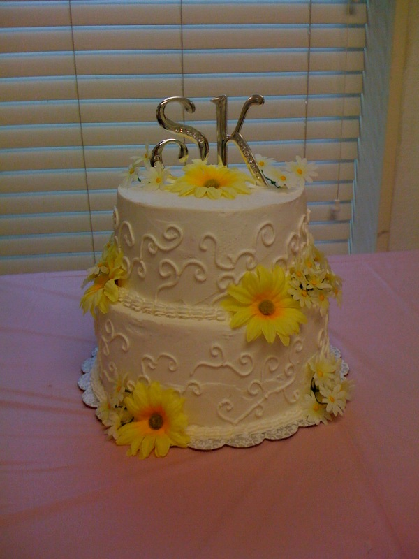 Wedding cake country and western themed