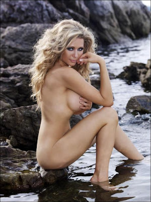 Super Model Nicola McLean Topless Shoot on Beach