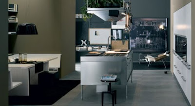 Italian modern kitchen designed by Antonio Citterio