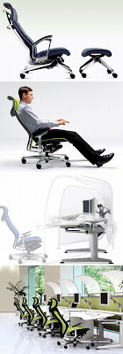 New Furniture : Ergonomic Office Furniture from Okamura