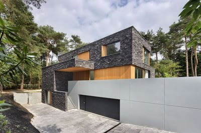 Living in the Villa with Woods and Stone