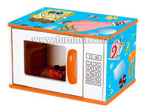 B10- Kotak Mainan Gambar Sponge Bob model Microwave
