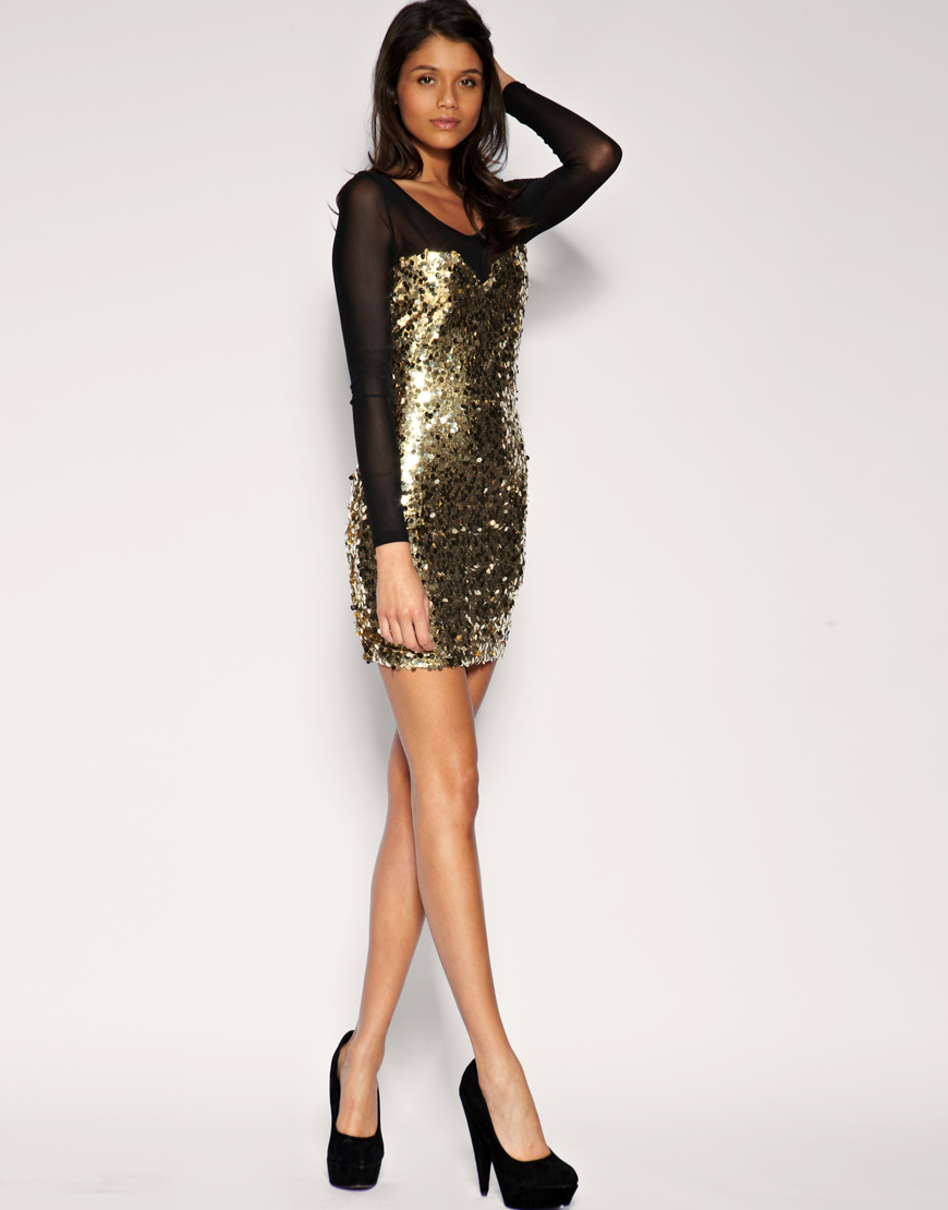 Mesh Sequin Dress