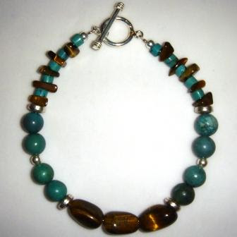 Turquoise & Tiger Eye Bracelet