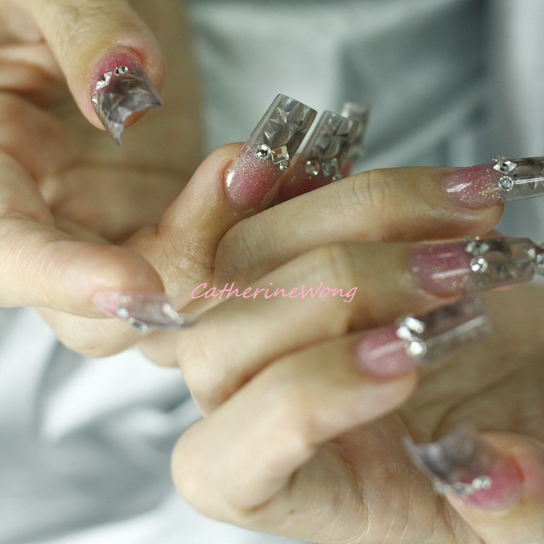 Wonderful Clear Acrylic Nails with Design 778 x 778 · 141 kB · jpeg