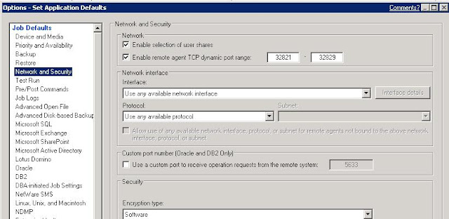 Linux iptables configuration for Symantec Backup Exec