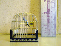One of my one twelth scale bird cages.