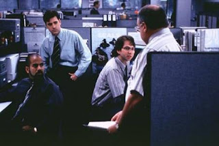 Characters in the comedy cult film Office Space (1999) contemplate what it would be like if they all lost their jobs... Well, it would be very similar to Iraq.