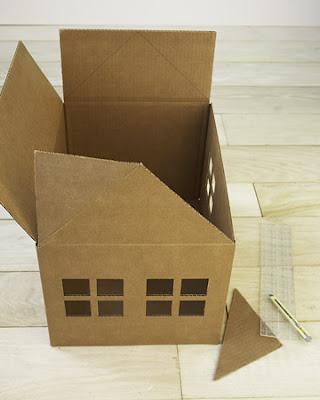 claire leina blog cardboard cat playhouse maison en. Black Bedroom Furniture Sets. Home Design Ideas