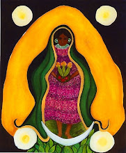 Guadelupe: the Corn Dancer--painting by Mitzi Linn