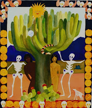 Day of the Dead: Adam and Eve--painting by Mitzi Linn