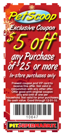 Pet supermarket coupons printable 2018