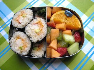 Sushi Snack Bento Lunchbot Duo