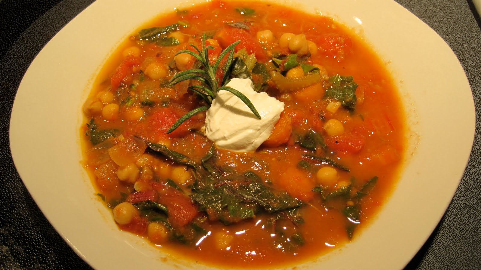 Shredded Chicken, Chard And Chickpea Soup Recipe — Dishmaps