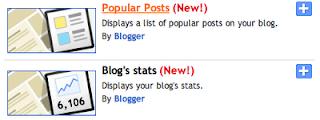 New Blogger Gadgets