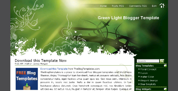 Best Simple Green Blogger Templates