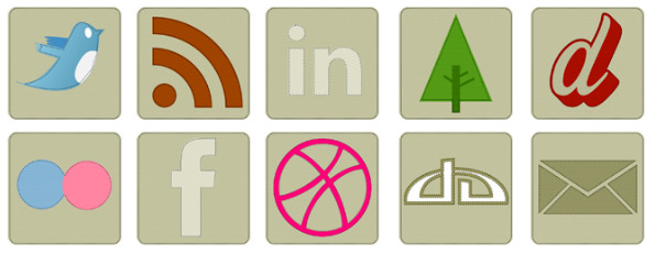 Best Free Fabric Social Icons