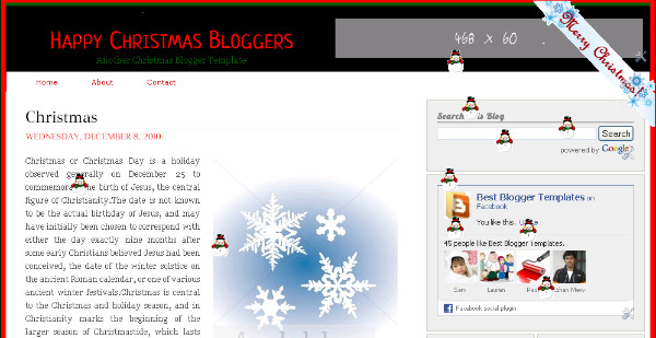 Best Christmas Blogger Templates