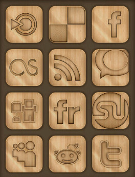 Best Free Wooden Social Icons