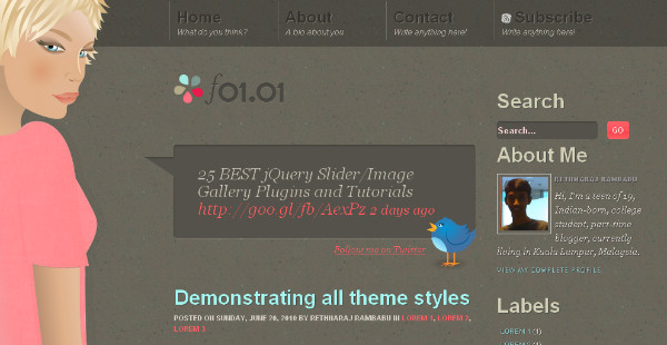 Best Girly Blogspot Theme