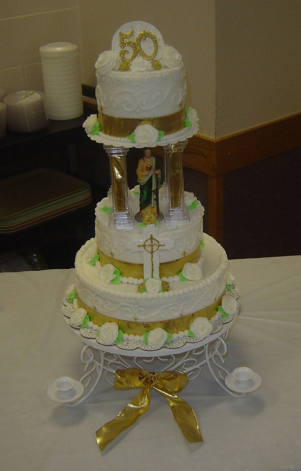Cake Ideas For Church Anniversary : For the Love of Baking: 7 layer 3 Tiered Church Dedication ...