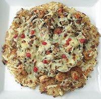 Tortilla De Arroz Con Camarones Y Champiñones
