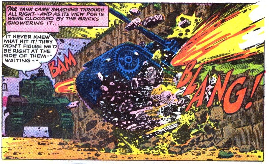 Silver age comics gi combat 125 the fighting is fierce inside the town and the other two tanks for the american side are destroyed but smith and his men account for a few themselves publicscrutiny Image collections