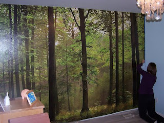 Our quiet place enchanted forest bedroom for Enchanted forest bedroom wall mural