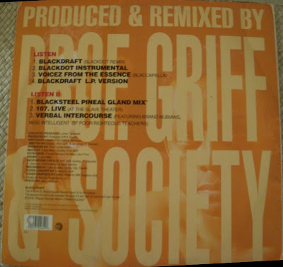 Professor Griff Amp Society Blackdraft 1993 Vls