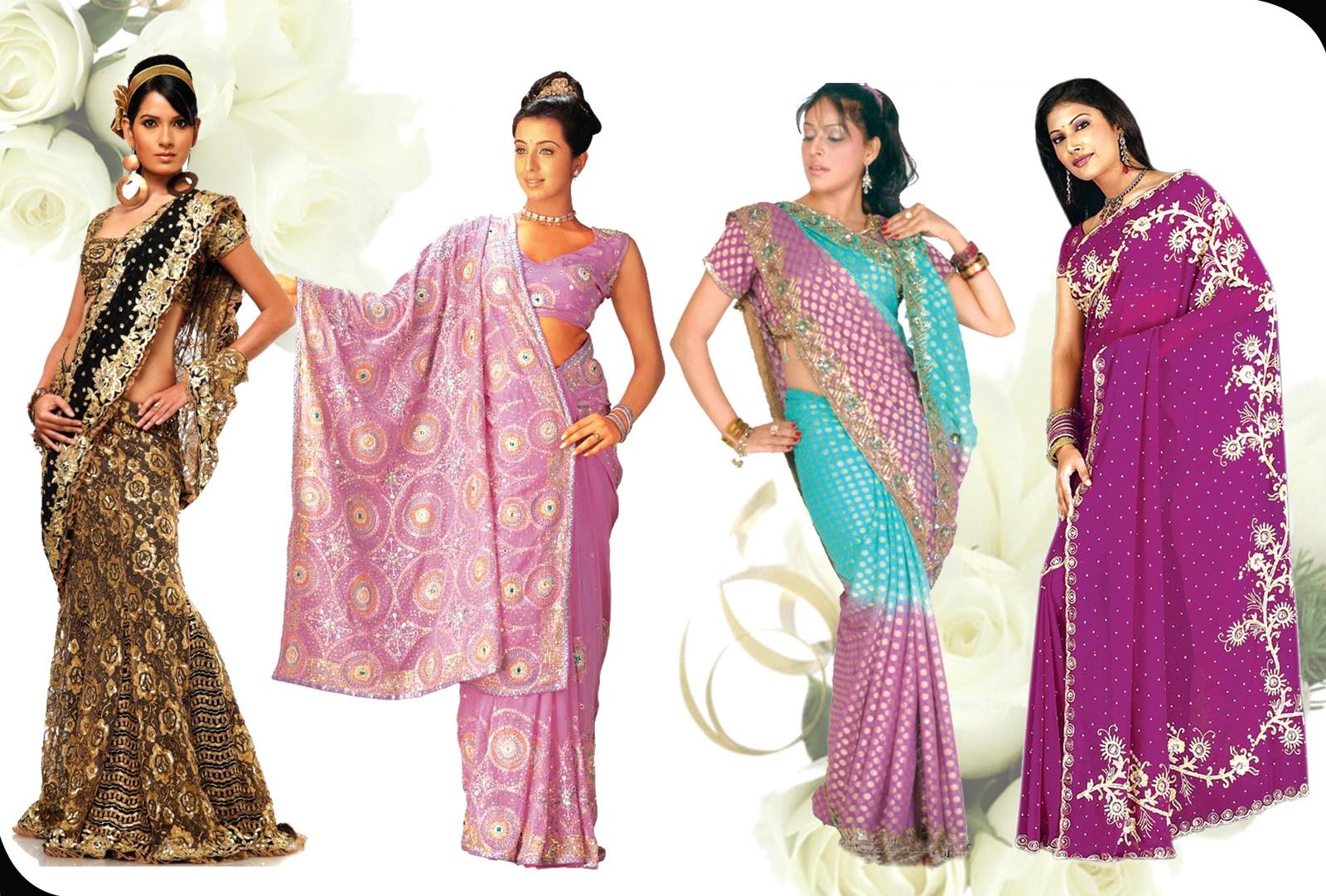 Fashion Sarees Designes Photoshop Creation