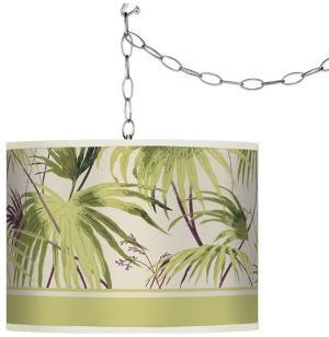 palm tree swag lamp