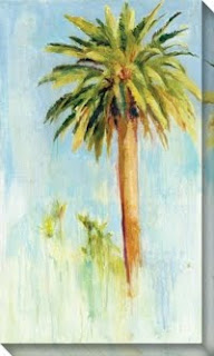 palm tree canvas painting by Allyson Krowitz