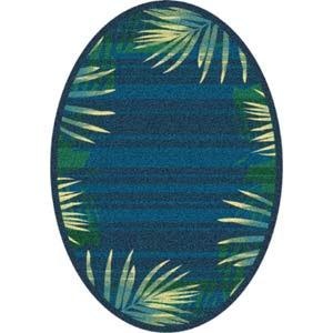 oval palm rug