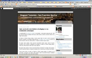San Francisco Skyline Blogger Template