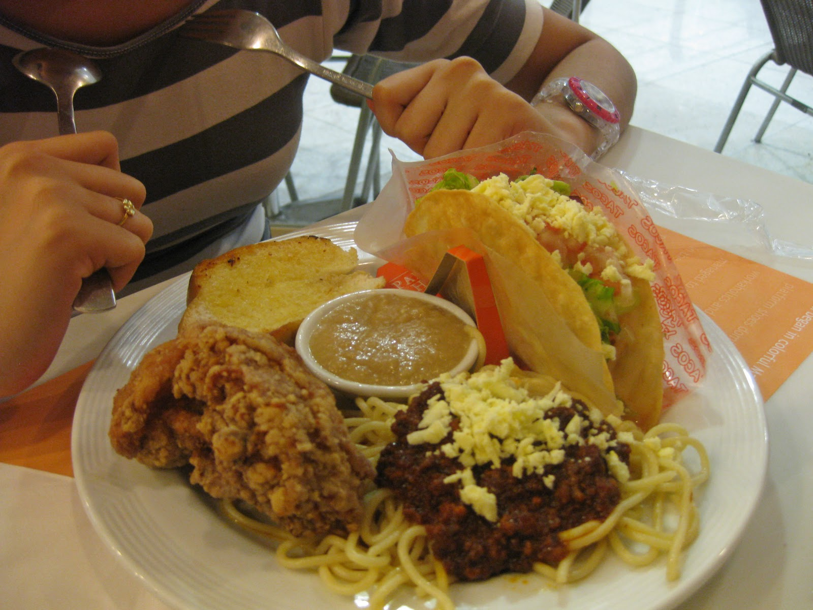 Going through the motions dinner pancake house with mama sis house special set php 215 a delicious mix specialties of the house taco spaghetti with garlic bread pan chicken and iced tea see below ccuart Gallery