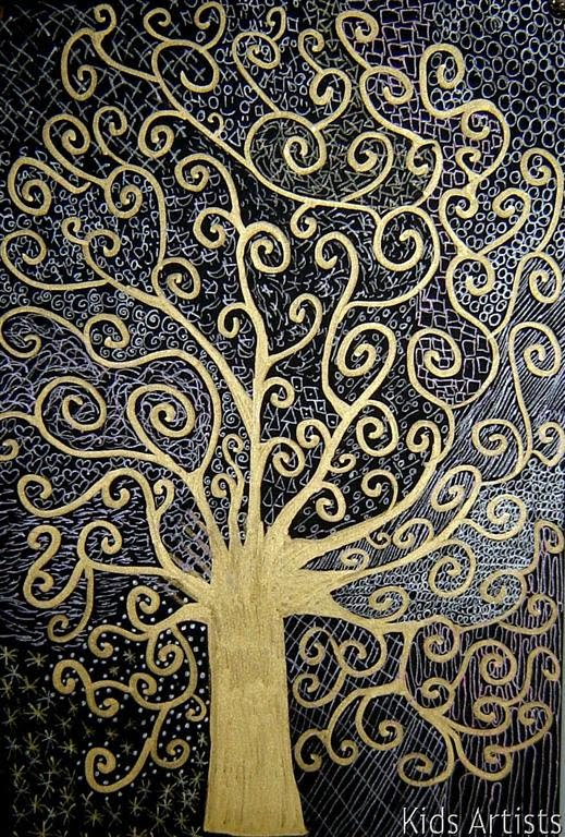 Klimt Tree Of Life Art Lesson Kids Artists: T...