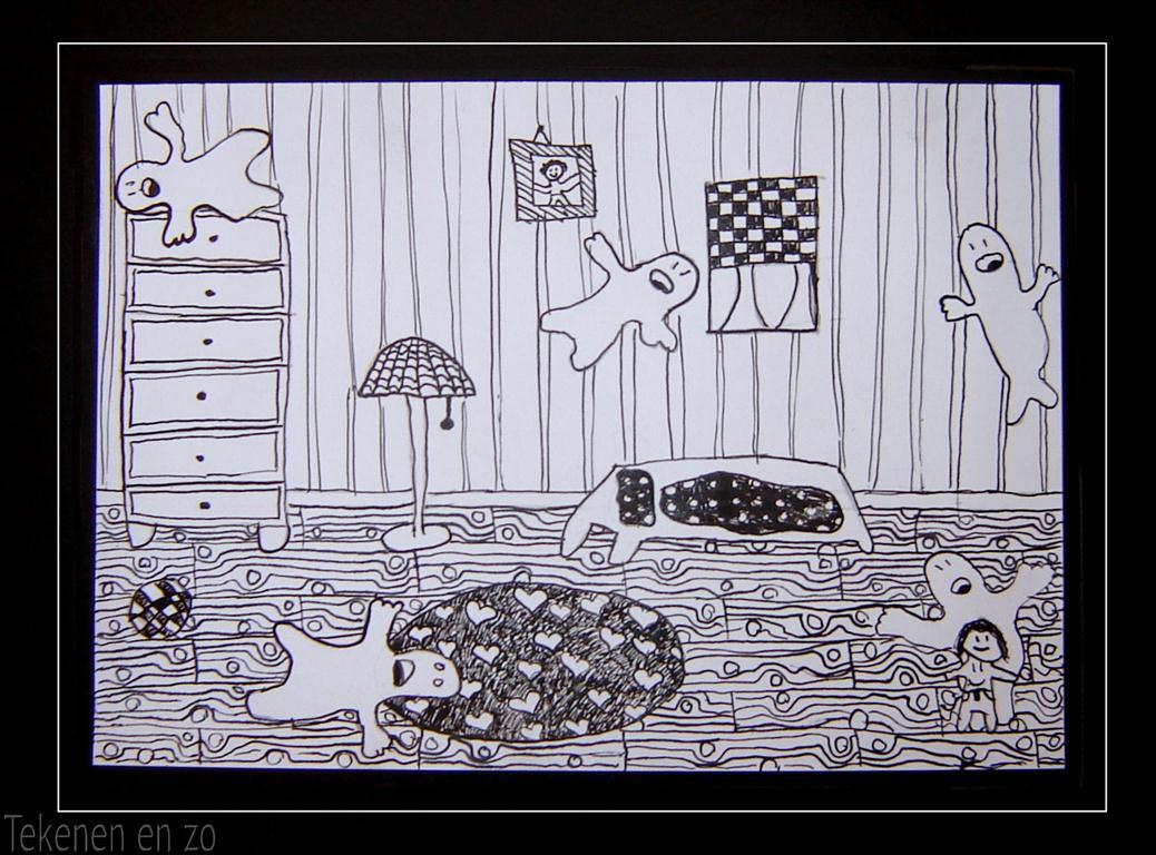 Tekenen en zo  Spook in de slaapkamer