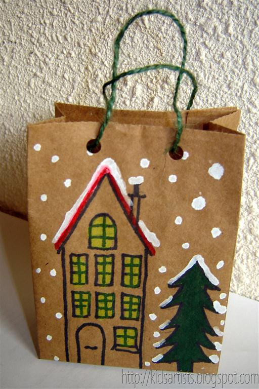 Kids artists december 2010 for Brown paper craft bags