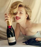 Scarlett Johansson et Moet & Chandon