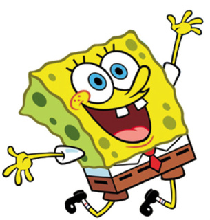 giant person hand spongebob good morning krusty crew spongebob