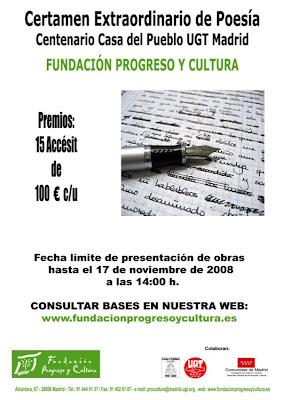cartel-certamen-extraordinario-de-poesia-centenario-casa-del-pueblo-ugt-madrid
