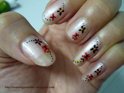 valentine nail designs. nail has different design