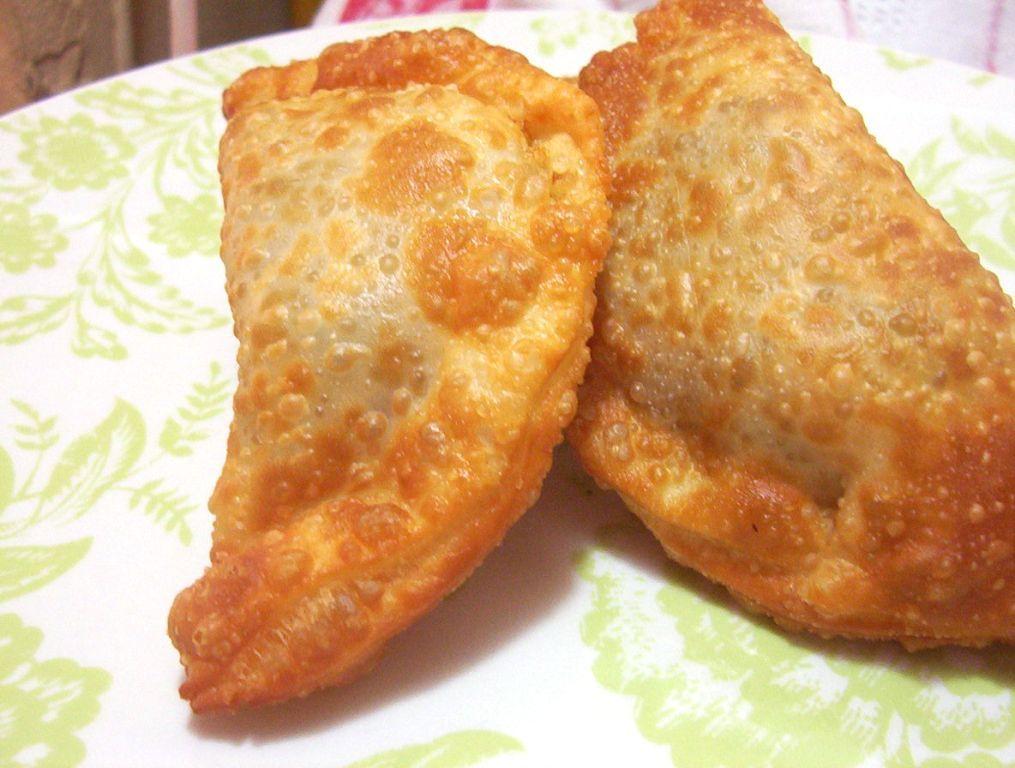 Fried shellfish empanadas