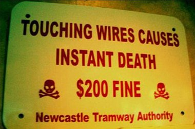 Funny Signboard Warning