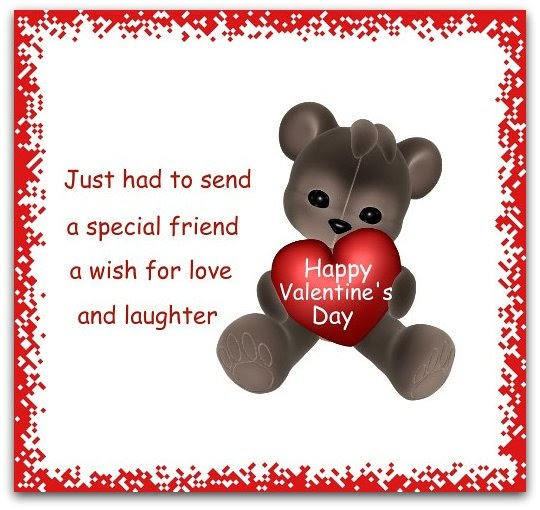 Valentines Day Greeting Card Messages For Friends E-Cards n Greetings: V...