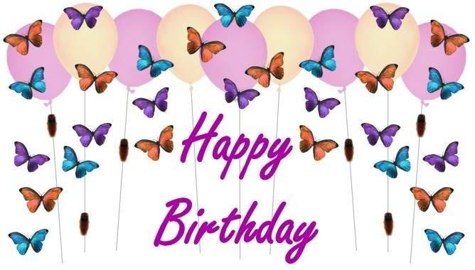 Поздравления от бабочек с днем рождения