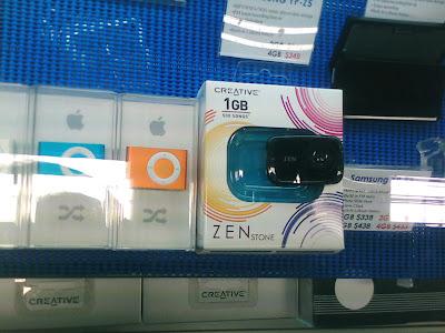 Creative Zen Stone vs iPod Shuffle