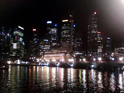 Singapore Night Scene @ Marina Bay