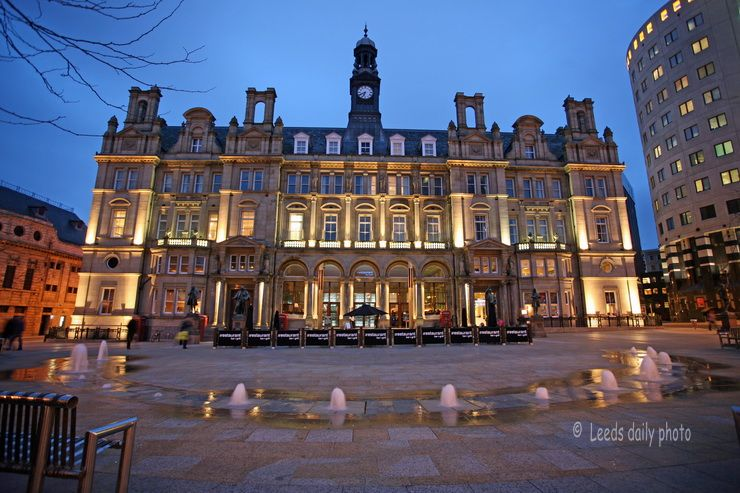 City Square Leeds Dusk