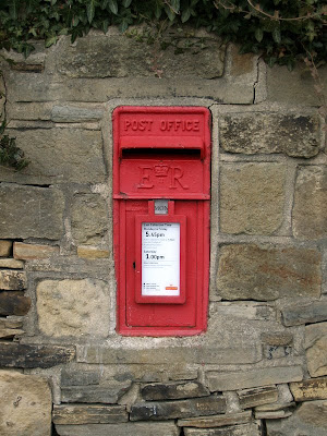 Wall Post Box Bingley Yorkshire